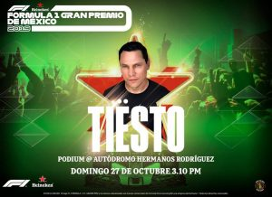 Tiësto and Heineken will light up the Mexican GP podium