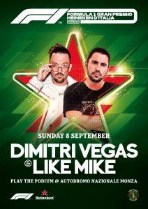 Dimitri Vegas & Like Mike will perform at Italian GP