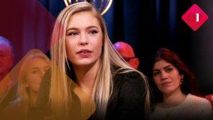 Jutta Leerdam Guest at Talk Show Op1