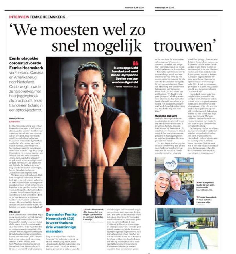Interview Femke Heemskerk in Eindhovens Dagblad